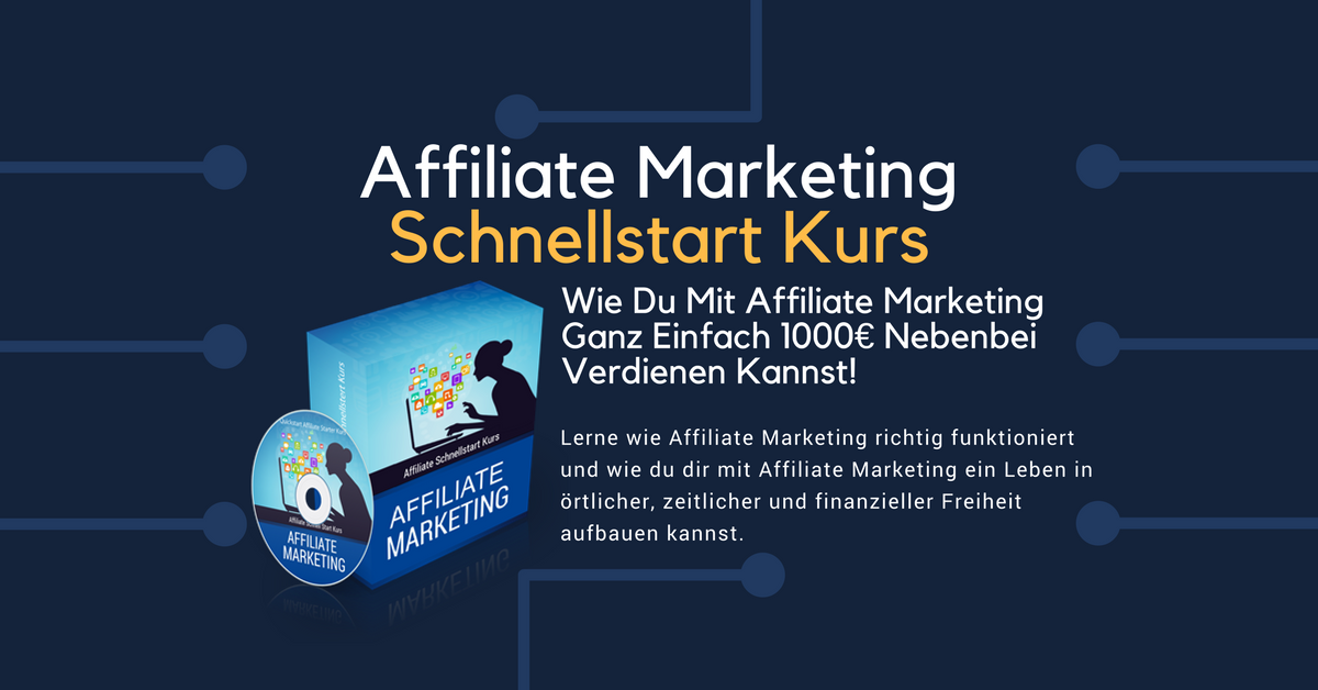 Lerne wie Affiliate Marketing richtig funktioniert